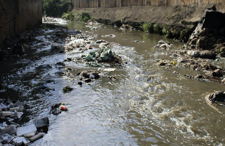 Pollution in the River Athi